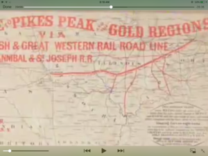 1859 broadsheet, pikes Peak gold rush
