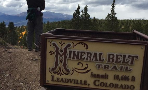 Leadville loop trail, mineral belt trail