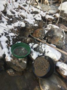 Winter gold panning, Utah gold prospecting