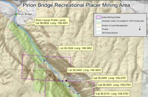 Topographic map of Piñon Bridge Area on the San Miguel River