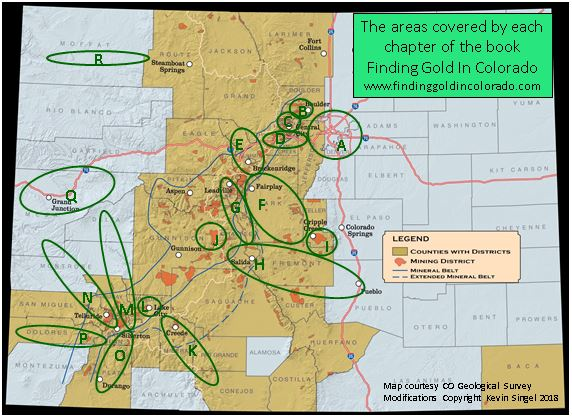 Map Of Dig Areas By Chapter For Prospectors Edition