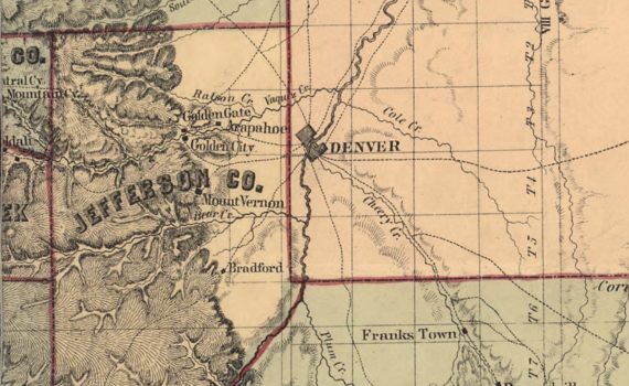Denver area map 1860 era